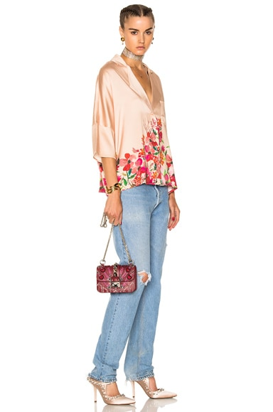 Embellished Mini Lock Shoulder Bag
