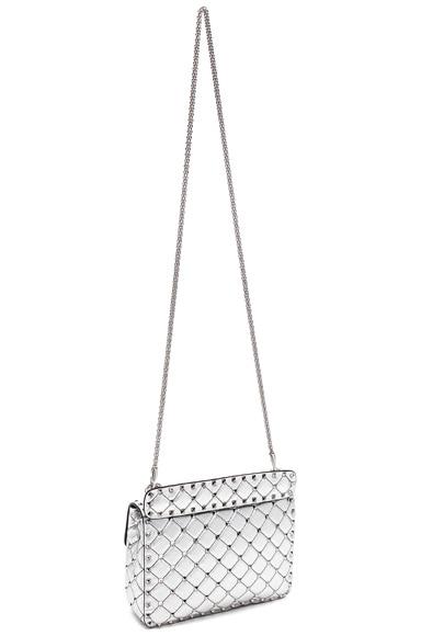 Medium Metallic Rockstud Spike Shoulder Bag