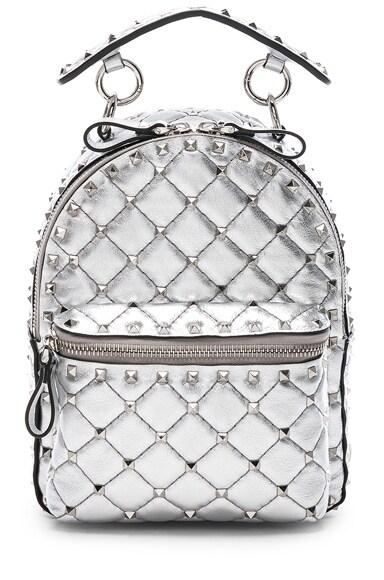 Mini Metallic Rockstud Spike Backpack
