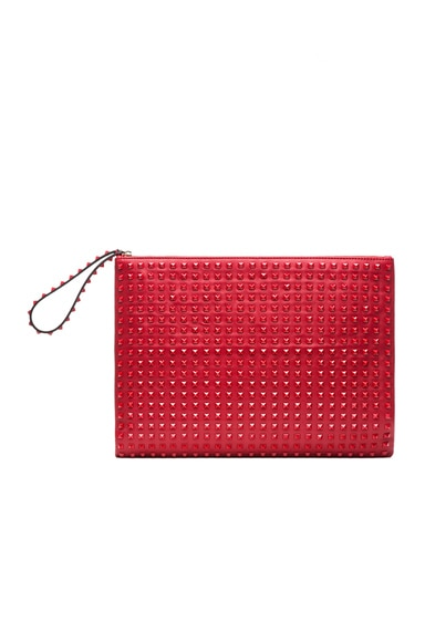 Large Rouge Rockstud Clutch