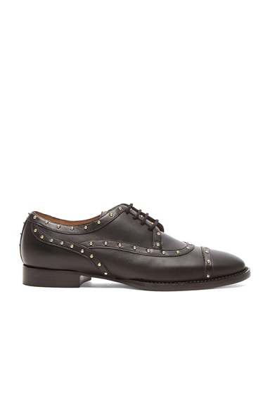Valentino Dotcom Lace Up Dress Shoes in Black & Gold