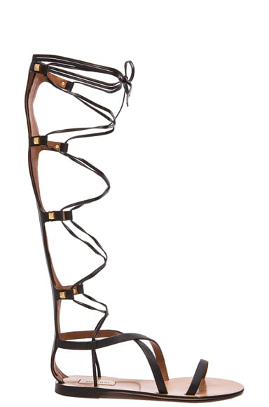 Rockstud Leather Gladiator Sandals