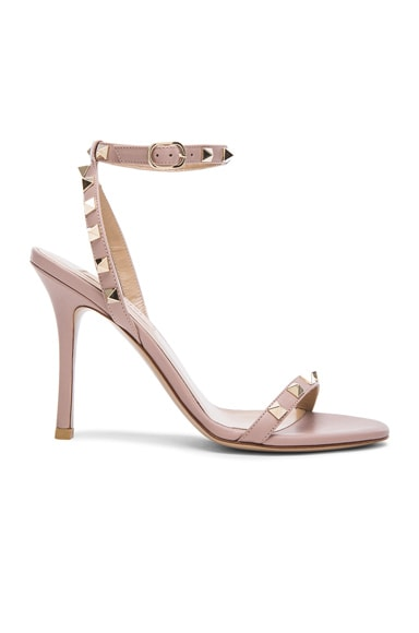 Leather Rockstud T.100 Sandals
