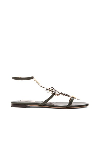 Love Me Love Me Not Leather Sandals
