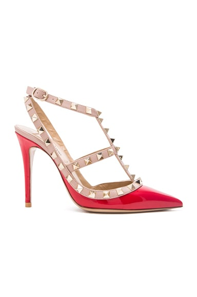 Rockstud Patent Leather Slingbacks T.100
