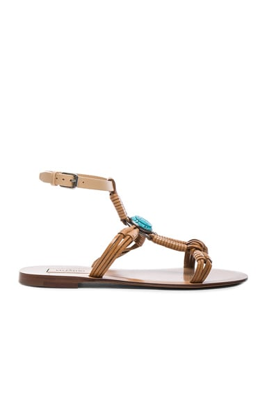 Valentino Scarab Sandals in Natural