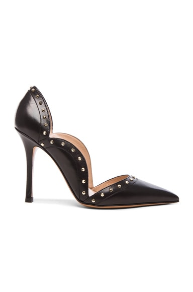 Valentino Punky Leather Pumps T.100 in Black