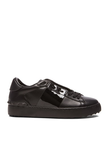 Open Low Top Leather Sneakers
