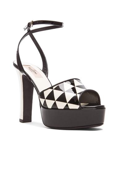 Shiny Fever Print 115MM Platform Sandals