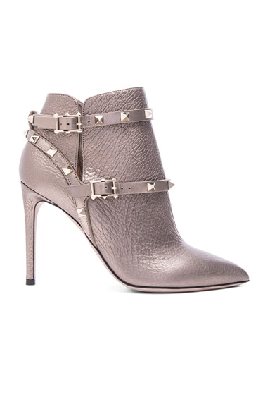 Valentino Leather Booties in Sasso
