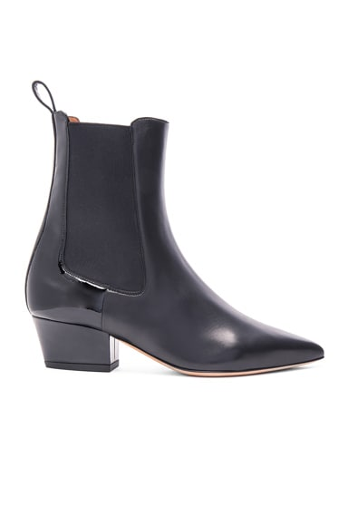 Valentino Rouge-Ish 45MM Leather Boots in Black
