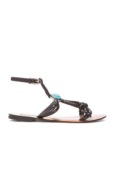 Valentino Scarab Sandals in Black