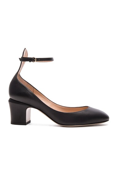 Valentino Tango Leather Heels in Black