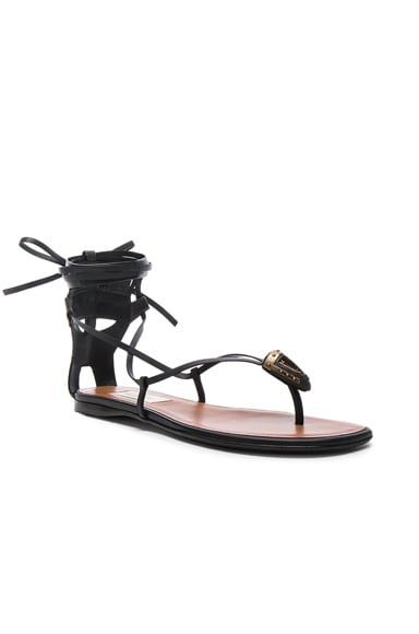Tribe Gladiator Leather Flat Sandals
