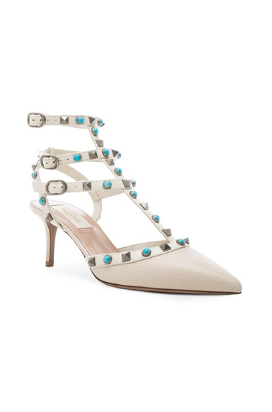 Rockstud Leather Rolling Heels