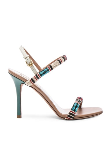 Valentino Glam Tribe Slingback Heels in Al Campione & Soft Noisette