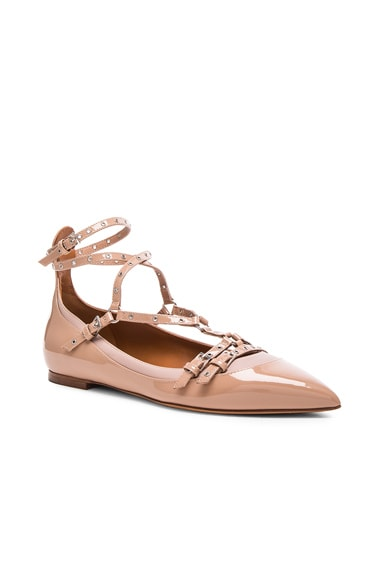Love Latch Patent Leather Ballerina Flats