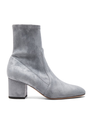 Valentino Suede Booties in Light Stone