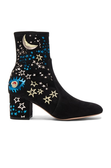 Valentino Suede Astro Couture Boot in Multi & Nero