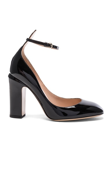 Valentino Patent Leather Tango Heels in Black