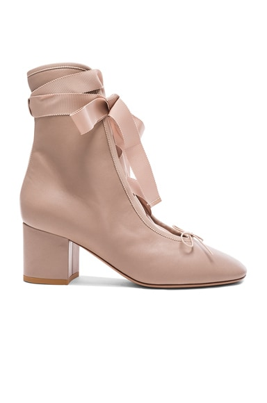 Leather Ballet Booties