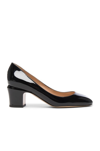 Valentino Tan-Go Patent Leather Pump in Black