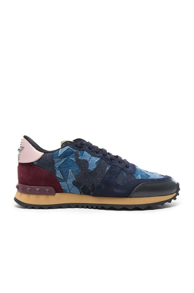 Valentino Runner Sneakers in Blue