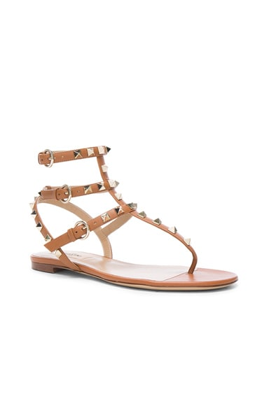 Leather Rockstud Gladiator Sandals