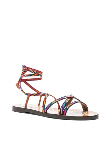 Embroidered Santeria Sandals