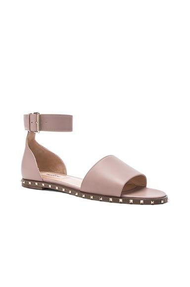 Leather Soul Rockstud Flat Sandals