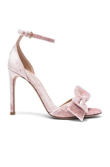 Velvet Bow Heels Valentino