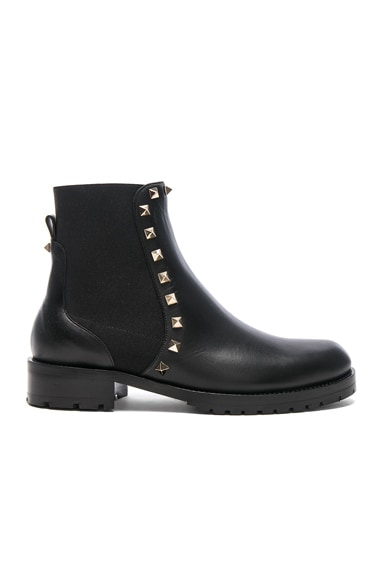 Leather Rockstud Boots