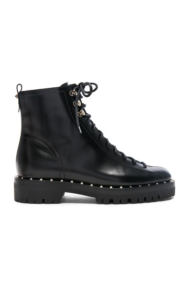 Leather Soul Rockstud Combat Boots