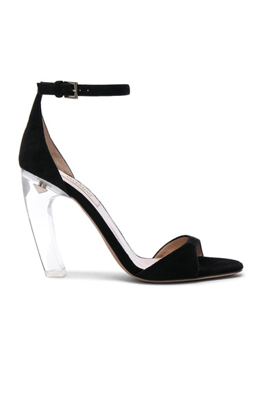 Suede Twinkles Ankle Strap Sandals
