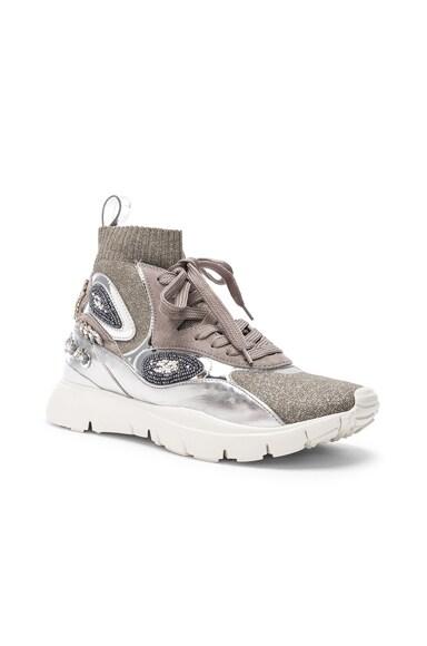 Heroes Her Embellished High Top Sneakers