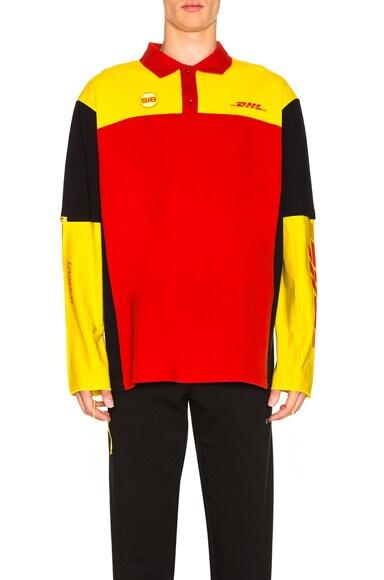 DHL Long Sleeve Polo