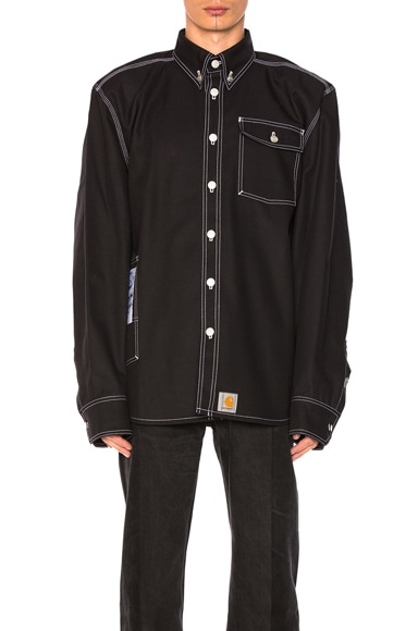 VETEMENTS x Carhartt Workwear Shirt in Black