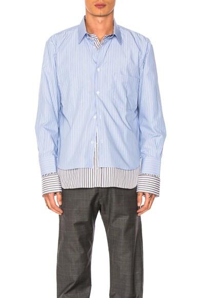 VETEMENTS x Comme Des Garcons SHIRT Shirt in Blue & Brown