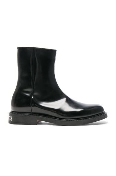 x Church's Logo Leather Ankle Boots