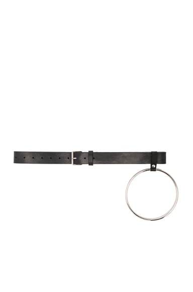VETEMENTS Belt with Ring in Black