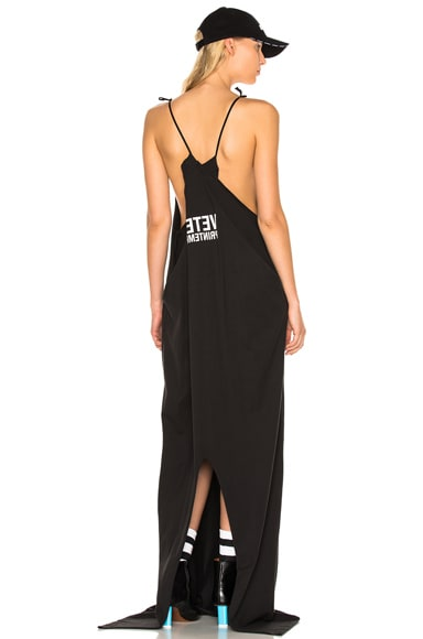 VETEMENTS x Hanes Red Carpet Tee Dress in Black
