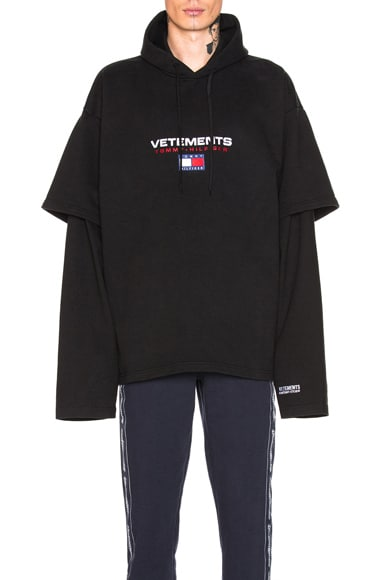 x Tommy Hilfiger Double Sleeve Hoodie