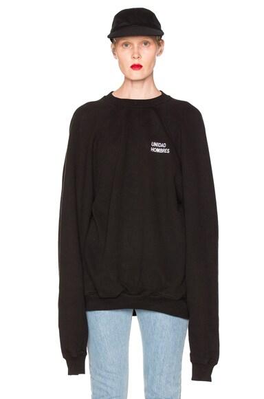 VETEMENTS Oversized Sweatshirt Unidad Hombres in Black