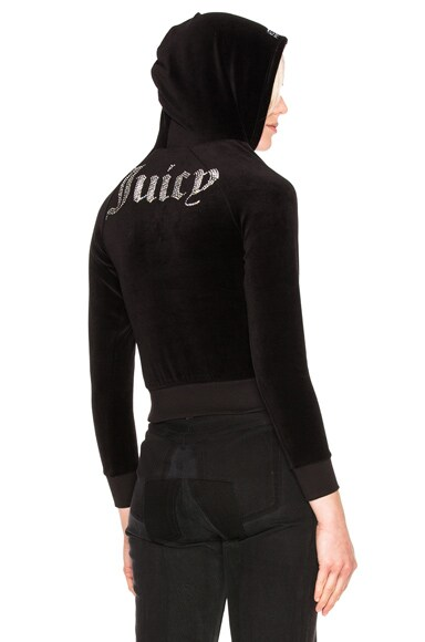 VETEMENTS x Juicy Couture Shrunk Shoulder Hoodie in Black