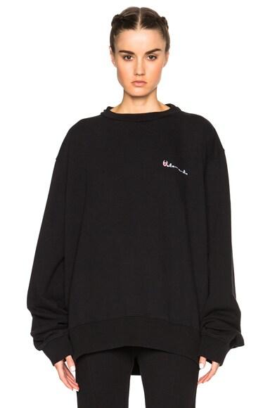 VETEMENTS Sweatshirt in Black