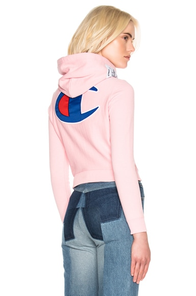 VETEMENTS x Champion Fitted Hoodie in Pink