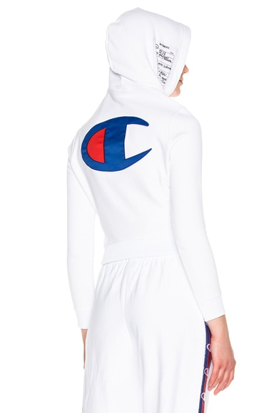VETEMENTS x Champion Fitted Hoodie in White