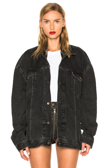 VETEMENTS x Levis Oversized Denim Jacket in Black