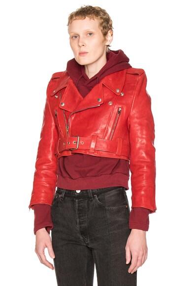 VETEMENTS Biker Jacket in Red