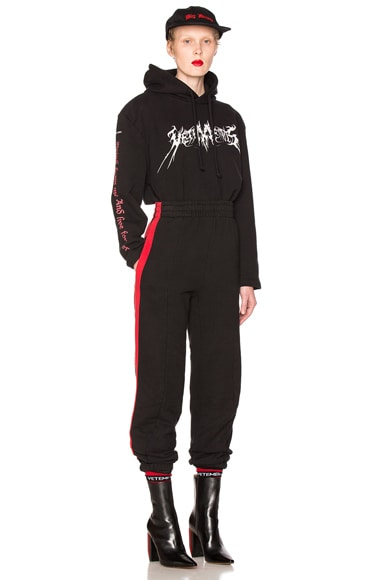 Biker Sweatpants with Red Stripes